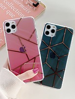 cheap -Case For Apple iPhone 11 / iPhone 11 Pro / iPhone 11 Pro Max Shockproof / Plating / IMD Back Cover Geometric Pattern TPU / PC