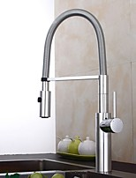 cheap -Kitchen faucet - Single Handle One Hole Electroplated Standard Spout / Tall / ­High Arc Centerset Contemporary Kitchen Taps