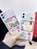 cheap -Case For Apple iPhone 11 / iPhone 11 Pro / iPhone 11 Pro Max Shockproof Back Cover Transparent / Cartoon TPU