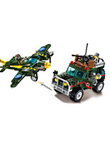 cheap -Building Blocks 241 pcs Military compatible Legoing Simulation Plane Climbing Car All Toy Gift