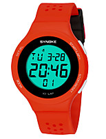 cheap -SYNOKE Digital Watch Digital Sporty Stylish Silicone 30 m Water Resistant / Waterproof Calendar / date / day LCD Digital Outdoor Fashion - Black Black / Green Yellow