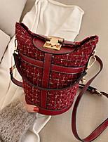 cheap -Women's PU Crossbody Bag Solid Color Black / Wine / White
