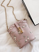 cheap -Women's Chain PU Crossbody Bag Solid Color Blushing Pink / Green / Milky White