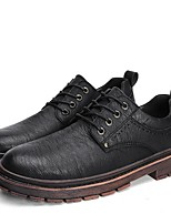 cheap -Men's Formal Shoes PU Fall Oxfords Black / Brown / Gray
