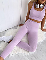 cheap -Women's 2-Piece Sports Bra Track Pants Sports Pants 2pcs High Rise Running Fitness Jogging Sportswear Breathable Quick Dry Soft Sweat-wicking Sport Bra With Running Pants Sleeveless Activewear High