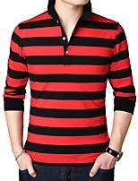 cheap -Men's Daily Polo - Striped Black