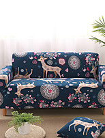 cheap -Sofa Cover Plants / Scenery / Contemporary Printed Polyester Slipcovers