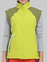 cheap -Women's Hiking Fleece Vest Winter Outdoor Windproof Fleece Lining Warm Comfortable Jacket Winter Fleece Jacket Top Fleece Single Slider Climbing Cycling / Bike Camping / Hiking / Caving Forest Green
