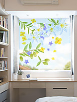 cheap -Fashion Flowers Pattern Matte Window Film Vinyl Removable Private Home Decor / Door Sticker / Window Sticker