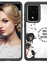 cheap -Case For Samsung Galaxy S20 / S20 Plus / S20 Ultra Shockproof / Pattern Back Cover 5 Cats TPU / PC for A50(2019) / A40(2019) / A30(2019) / Note 10 Pro