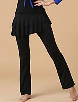 abordables -Danse latine Bas Femme Utilisation Polyester Volants en cascade Pantalon