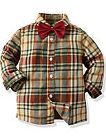 cheap -Kids Toddler Boys' Basic Street chic Color Block Long Sleeve Shirt Yellow
