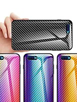 cheap -Case For OPPO OPPO Reno2 / OPPO Reno2 Z / OPPO R11 Plus Shockproof / Ultra-thin Back Cover Tile / Color Gradient Carbon Fiber