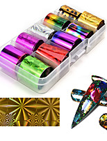 cheap -10 pcs Foil Sticker Galaxy nail art Manicure Pedicure Multi-Design / Universal Trendy / Colorful Daily
