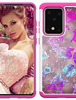 cheap -Case For Samsung Galaxy S20 / S20 Plus / S20 Ultra Shockproof / Pattern Back Cover Peony Flower TPU / PC for A50(2019) / A40(2019) / A30(2019) / Note 10 Pro