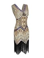 cheap -Dance Costumes Dresses Women's Performance Terylene Tassel / Paillette Sleeveless Dress