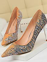 cheap -Women's Heels Stiletto Heel Pointed Toe PU Spring & Summer Black / Purple / Champagne