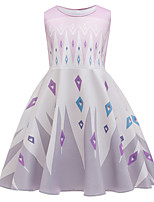 cheap -Princess Elsa Dress Flower Girl Dress Girls' Movie Cosplay A-Line Slip Cosplay White Dress Halloween Carnival Masquerade Cotton