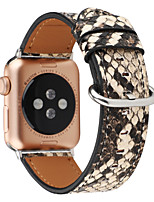 cheap -Cool Snakeskin Print Watch Band for Apple Watch Series 4 / Apple Watch Series 3 / Apple Watch Series 2 Apple Sport Band Genuine Leather Wrist Strap