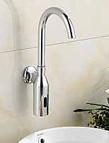 cheap -Bathroom Sink Faucet - Touch / Touchless Electroplated Centerset Single Handle One HoleBath Taps