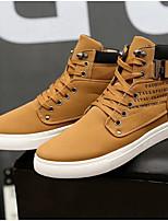 cheap -Men's Comfort Shoes PU Fall & Winter Sneakers Khaki
