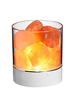 cheap -BRELONG Himalayan air purifying Crystal Salt Lamp LED Colorful Atmosphere Night Light Anion Air Purification