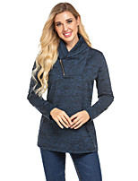 cheap -Women's Basic Sweatshirt - Print Wine S