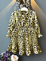 cheap -Kids Girls' Leopard Dress Fuchsia