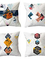 cheap -4 pcs Throw Pillow Simple Classic 45*45 cm  Cushion Vintage Circle Cover Sofa Home Decor Throw Pillow Case