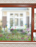 cheap -Plants And Flowers Pattern Matte Window Film Cling Vinyl Thermal-Insulation Privacy Protection Home Decor For Window Cabinet Door Sticker / Window Sticker
