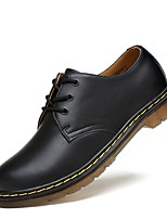 cheap -Men's Comfort Shoes Leather Fall & Winter Oxfords Black / Brown / Wine