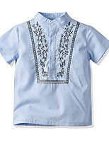 cheap -Kids Toddler Boys' Basic Jacquard Short Sleeve Shirt Blue
