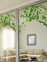 cheap -Fresh Green Twigs Window Film & Stickers Decoration Matte / Contemporary Print / 3D Print PVC(PolyVinyl Chloride) Matte Sticker / Window Sticker / Door Sticker