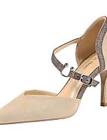 cheap -Women's Heels Stiletto Heel Pointed Toe Synthetics Sweet / British Summer / Spring & Summer Black / Wine / Almond / Party & Evening