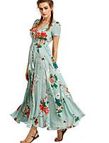 cheap -Women's Elegant Sheath Dress - Geometric Black Wine Blue S M L XL