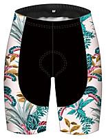cheap -21Grams Men's Women's Cycling Shorts Bike Pants / Trousers Padded Shorts / Chamois Bottoms Breathable 3D Pad Quick Dry Sports Floral Botanical Black / Blue Mountain Bike MTB Road Bike Cycling