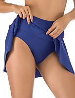 cheap -Women's Black Royal Blue Navy Blue Bikini Bikini Bottoms Swimwear - Solid Colored S M L Black