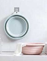 cheap -Folding wash-basin household wash-basin travel thickened wash-basin plastic basin