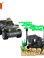 abordables -Blocs de Construction 134-204 pcs Militaire compatible Legoing Simulation Tout Terrain Tous Jouet Cadeau / Enfant