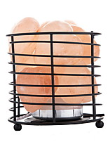 cheap -heart shaped LED Himalayan air purifying Salt Lamp Tall Metal Basket Night Light Creative USB 1pc
