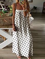 cheap -Women's Elegant Sheath Dress - Polka Dot Black White S M L XL