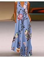 cheap -Women's Elegant Swing Dress - Geometric White Yellow Blue S M L XL
