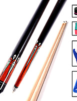 cheap -CUESOUL® 2-Piece Pool Cues Cue Sticks Ashwood Snooker Pool 19oz 1 set Sports Portable High Quality