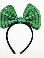 cheap -Peter Pan Irish Clover Headband Adults' Green Velour Party Cosplay