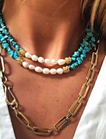 cheap -Necklace Necklace Masquerade Bohemian Boho Alloy For Gypsy Cosplay Halloween Carnival Women's Costume Jewelry Fashion Jewelry