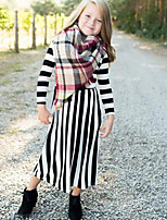 cheap -Mommy and Me Striped Dress Black