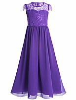 cheap -Princess Dress Girls' Movie Cosplay Cosplay Halloween Purple / Green / Light Purple Dress Halloween Carnival Masquerade Chiffon Lace Polyester