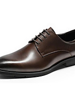 cheap -Men's Formal Shoes Nappa Leather Winter / Fall & Winter Business / British Oxfords Non-slipping Black / Brown / Party & Evening