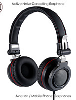cheap -LITBest KA03 Over-ear Headphone Wired with Microphone with Volume Control HIFI ANC Active Noice-Cancelling for Mobile Phone