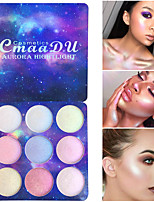cheap -9 Colors Eyeshadow Eyeshadow Palette Lady Eye Cosmetic Waterproof Glow Lighting Professional Gradient lasting Coloured gloss Long Lasting Natural Daily Makeup Halloween Makeup Fairy Makeup Cosmetic